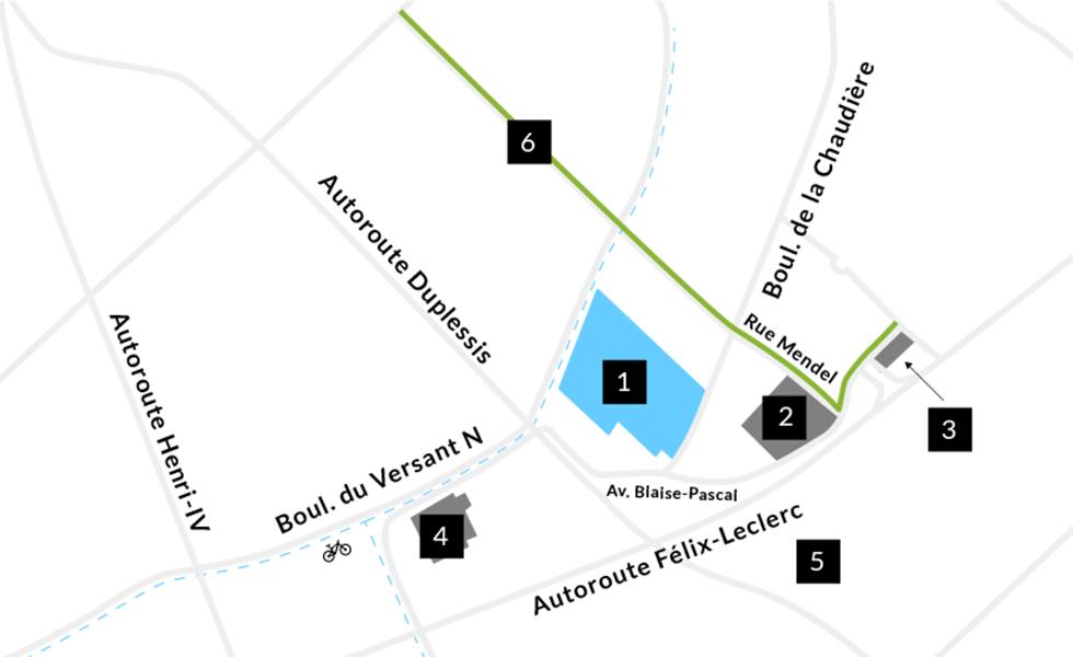 Map Développements Roussin